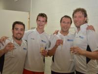 Interclub 14/15 - Bienne Champion - Alberto Martinez Macias, Jakob Känel, Michael Cowhie, Valentin Ackermann